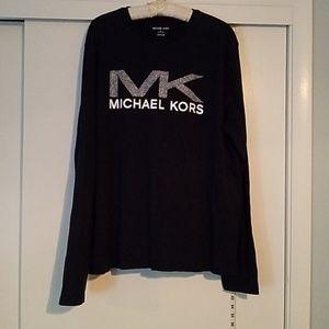 Michael Kors Long Sleeve NAVY BLUE t-sHIRT